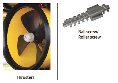 Thrusters and ball screw